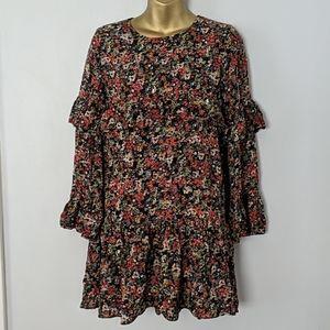 Zara mini floral dress size small